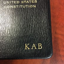 Leatherbound Pocket-Size US Constitution With Initials
