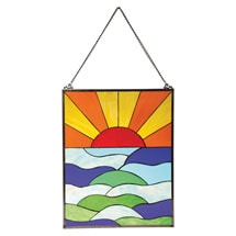 Sunrise Stained Glass Panel