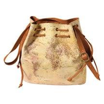 World Map Leather Handbag