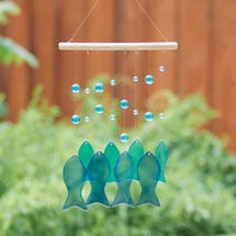 Glass Fish Wind Chime