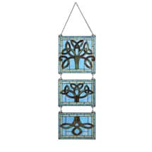 Stained Glass Celtic Tree Hanging Triptych