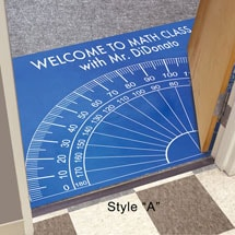 Personalized Protractor Floor or Doormat