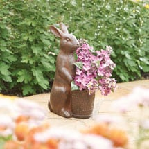 Rabbit with Basket Planter