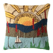 Sunset Over the Lake Pillow