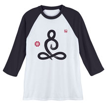 Yoga Lotus Pose Baseball Tee
