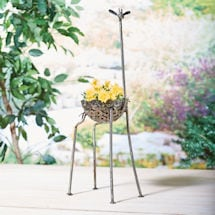 Recycled Metal Giraffe Planter
