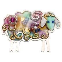 Hand Painted Sheep Pins