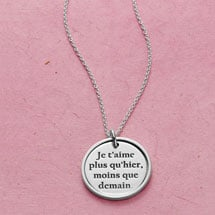 I Love You More Than Yesterday Necklace