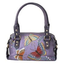 Hand-Painted Butterfly Handbag