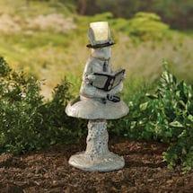 Solar Reading Rabbit Garden Sculpture