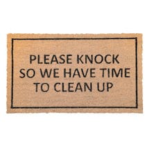Please Knock So We Have Time to Clean Up Doormat