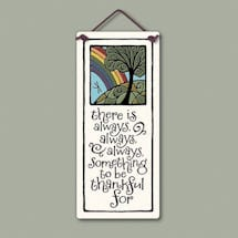 Always Thankful Ceramic Plaque