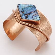 Abalone and Copper Cuff Bracelet