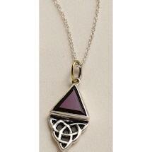 Celtic Garnet Necklace