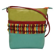 Leather Spirals Crossbody Bag