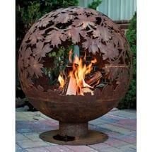 Autumn Leaves Fire Globe