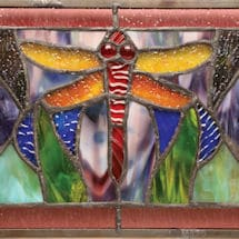 Dragonfly Stained Glass Window Panel