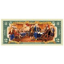 Colorized $2 Bill