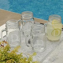 Personalized Classic Jar Glass Set Of 4