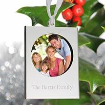 Silver-Tone Frame Ornament
