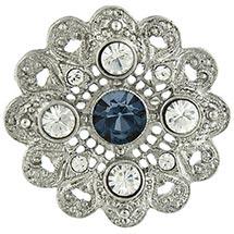 Downton Abbey Crystal Flower Brooch