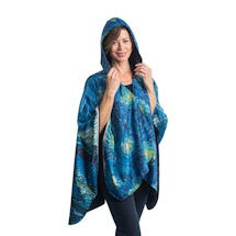 Van Gogh Starry Night Reversible Rain Cape
