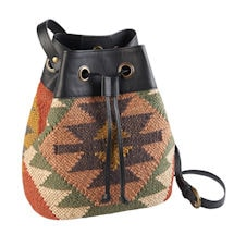 Kilim Drawstring Bucket Bag