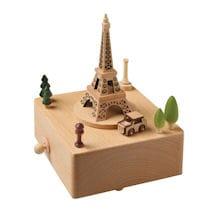 Car Circling Eiffel Tower Music Box