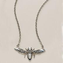 Silver Spoon Bee Necklaces