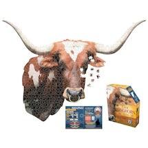 I am Animal Puzzle - Longhorn