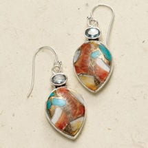 Oyster Copper Turquoise Earrings