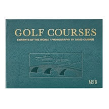 Leather-Bound Golf Courses of the World - Personalized