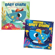 Baby Shark and Bedtime for Baby Shark Book Set