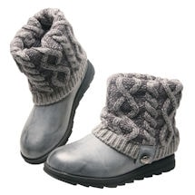 Pewter Cable Cuff Boot