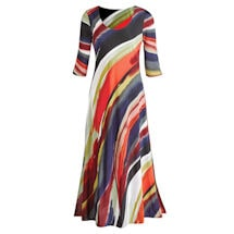Canyon Sunset ¾-Sleeve Maxi Dress