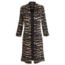 Long Print Jacket With Attached Dress