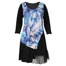 Abstract Blue Fashion Tunic Top