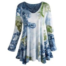 Pools Of Blue Knit Tunic Top