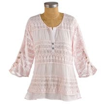 Powdery Pink Tunic Top