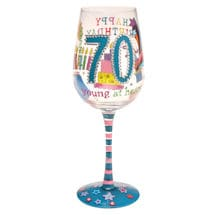 Milestone Birthday Wine Glasses