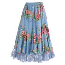 Cabbage Rose Tulle Skirt