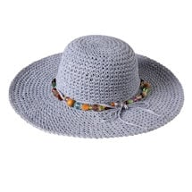 Crocheted Hat With Beaded Band