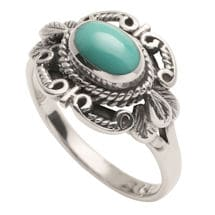 Sterling 'N Turquoise Ring