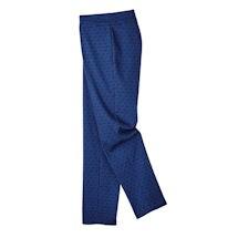 Royal Jacquard Slim-Leg Travel Pant