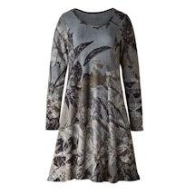 Brushed Leaves Panel Dress