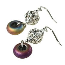 Electroplated Hematite Earrings
