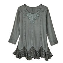 Misty Morning Lace-Hem Tunic