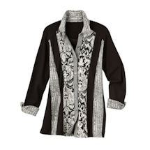 Mosaic Jacquard Shirted Tunic