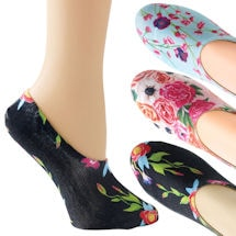 Fresh Floral No-Show Socks