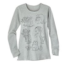 Naughty Kitties Thermal T-Shirt
